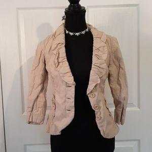 Cabi light Pink Ruffle Blazer